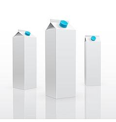 Blank milk or juice carton vector