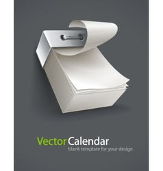 Blank tear-off paper calendar vector