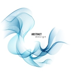 Blue abstract color wave smoke lines vector image
