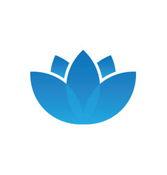 blue lotus spa logo vector image