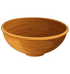 Bowl made of wood vector