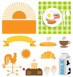 Breakfast set vector image