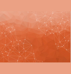 bright orange low poly communication background vector image