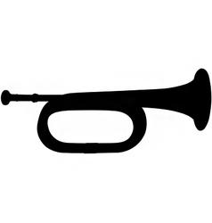 Bugle silhouette vector