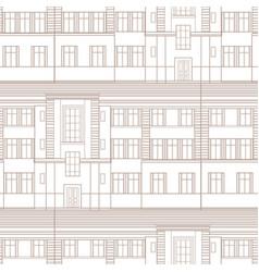 building facade seamless pattern city vector image
