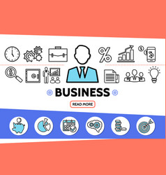 business elements template vector image