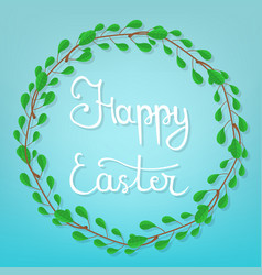 calligraphy lettering happy easter vector image