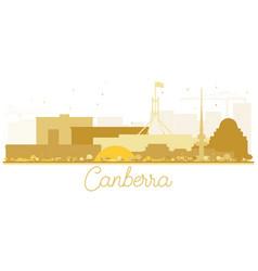 Canberra australia city skyline golden silhouette vector