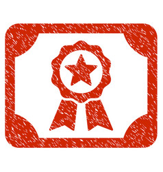 Certificate grunge icon vector