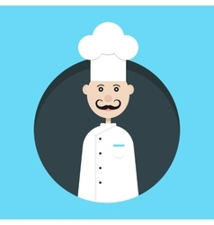Chef avatar in dark circle vector