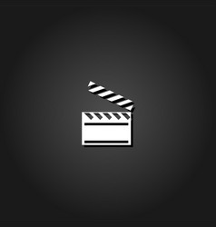 clapper board icon flat vector image