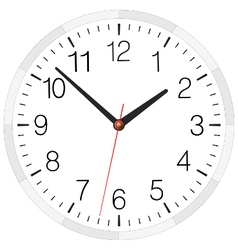 Clock placed on white background vector