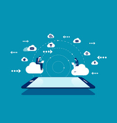 Cloud computing technology concept business vector