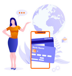 concept mobile payments online money transfer vector image