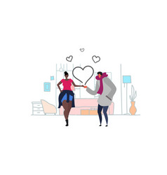 couple in love happy valentines day holiday vector image
