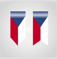 Czech republic haning flag vector