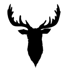 Deer Head Black Silhouette vector
