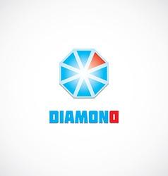 Diamond icon logo vector