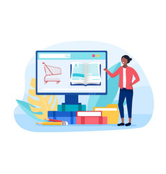 digital bookstore concept vector image