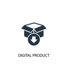 Digital product icon simple element vector