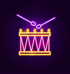 drum neon sign vector image