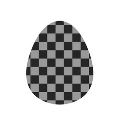 Easter egg flat object or icon isolated on white vector