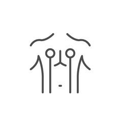 Electro stimulation line outline icon vector