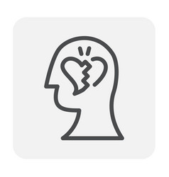 emotion head icon vector image