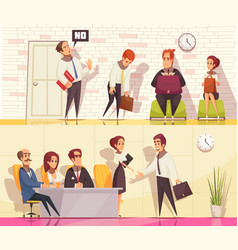 Employment situations banners set vector