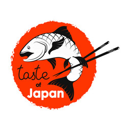 Fish and sticks japanese food vector