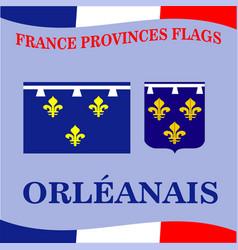 Flag french province orleanais vector