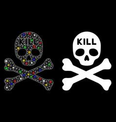 Flare mesh network kill death icon with flare vector
