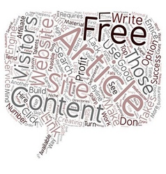 Free Article Content Explained text background vector image