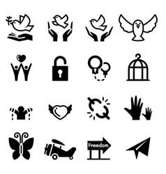 Freedom icon vector
