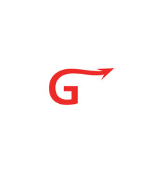 g letter arrow logo vector image