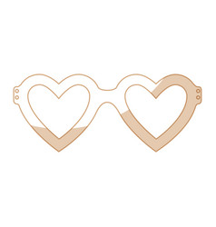 Glasses in heart shape icon vector