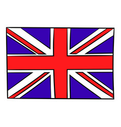 great britain flag icon cartoon vector image