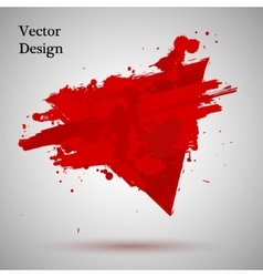 Grunge Black and red Paint Spray vector