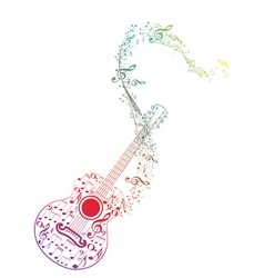Guitar and Music Notes7 vector image