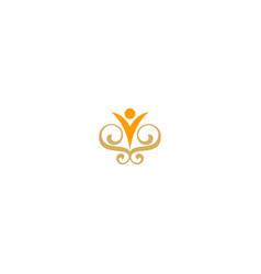 happy man decorative logo vector image