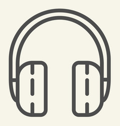 headphones line icon headset vector image