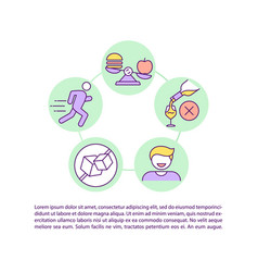 Healthy lifestyle concept icon with text vector