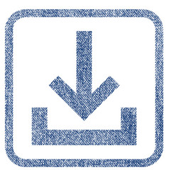 Inbox fabric textured icon vector