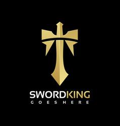 Logo sword gradient colorful style vector