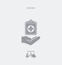 medical services - web icon vector image