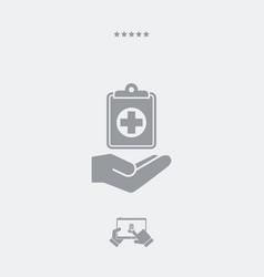 Medical services - web icon vector
