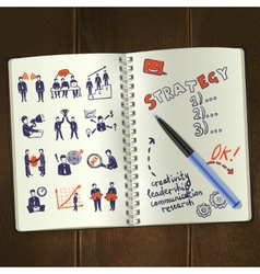 Meeting Sketch Notepad vector image