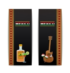 Mexican Banners Vertical vector