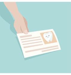 Name card dentist vector
