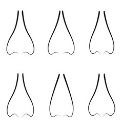Nose icon set vector